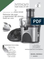 Juiceman Manual