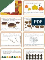 Tarjetas de Desafio Matematico - Otoño