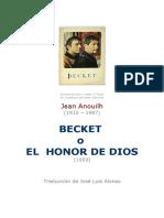 Becket O El Honor De Dios. Jean Anouilh.DOC