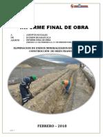 Informe Final de Eliminación de Oxidos Mineralizados