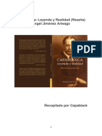 Capablanca Leyenda y Realidad (Reseña)-Angel Jiménez Arteaga