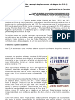 A Perda Da Supremacia Militar e a Miopia Do Planeamento Estratégico Dos EUA (1)