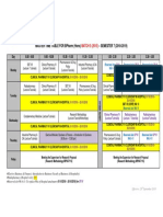 Master Time Table Batch 5 (2015) Sem 7