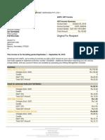 AWS Invoice Sample