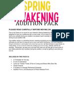 Spring Awakening Auditon Pack