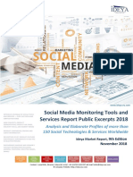 Social Media Monitoring Tools and Services Report Public Excerpts 2018, 9th Edition