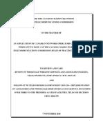 CNOC Nov. 7, 2018 CRTC Filing Requesting Relief