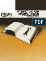 Alfred Sohn-Rethel - Intellectual and Manual Labor - A Critique of Epistemology