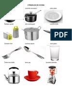 Utensilios de Cocina en Ingles y Español