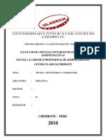 Tecnica de Estudios y Condiciones