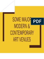 Museums of Modern and Contemporary Art