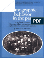 John E. Knodel-Demographic Behavior in the Past_ a Study of Fourteen German Village Populations in the Eighteenth and Nineteenth C
