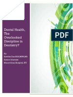 Dental Health The Overlooked Discipline in Palliative Care? A Brief Overview