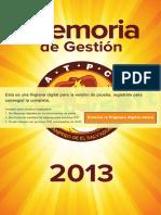 Memoria de Gestion 2013_Ultima