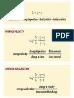 Holt Physics Formulas