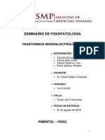 Seminario de Fisiopatología Trastornos Hidroelectrolíticos