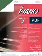 EL PIANO EN EL CNM