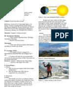 Lesson Plan Climate-latitude Altitude