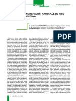 Frecventa Fenomenelor Naturale de Risc in RM