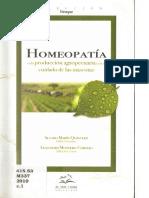 Homeopatía en La Producción Agropecuaria y en El Cuidado de Las Mascotas