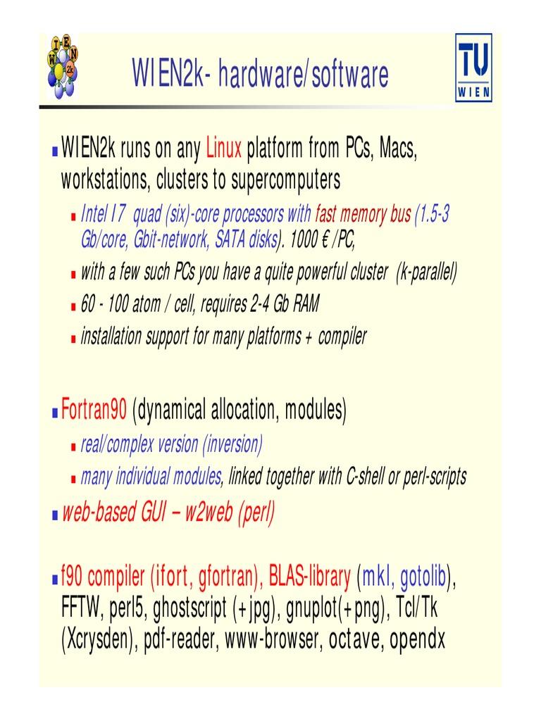 WIEN2k Installation   Perpustakaan (Komputasi)   Perl