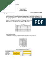 PAUTA Interrogación Nº 1 Estructuras II  1° semestre de 2016