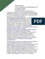 Socialistic Socialim Sciences of Sociology Research