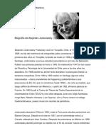 Biografía de Alejandro Jodorowsky