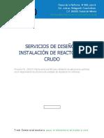 Diseño e Instalación de reactor para crudo