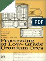 Lixiviacion Estatica de Minerales Españoles de Uranio