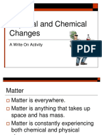 notes - physical and chemical change