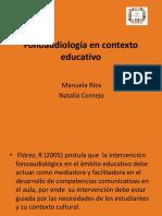 Fonoaudiología en Contexto Educativo