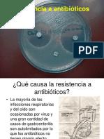 Resistencia a Antibmicrobianos