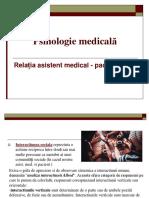 Psih Med -Rel Asistent Medical - Pacient