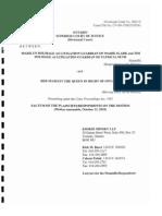 Plaintiffs Responding Factum