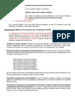 4.- Lección Cuatro Pasos  para una aplicación práctica