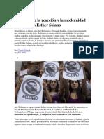 Entrevista a Esther Solano Brasil Entre La Reacción y La Modernidad
