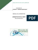 Manual de Admondel Tiempo