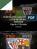 Jesús Sarcos - Barcelona Contra Athletic Club de Bilbao, 29-09-2018, Liga de 1ra División
