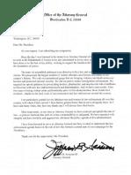 Jeff Sessions Lettre de démission