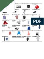 lesson 1 fashion cards