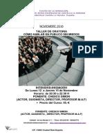 Teatro de La Sensacion Taller de Oratoria-como Hablar en Publico Sin Miedos-noviembre 018