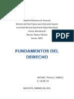 Unidades i y II de Fundamentos Del Derecho
