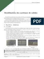 Modélisation des systèmes de solides