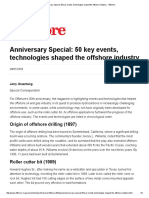 50 Events Technologies Shaped the Offshore Industry 2004