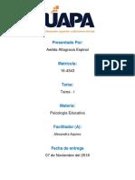 Psicologia Eduactiva-Tarea 1 - Awilda- UAPA
