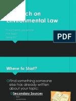 Environmental Law Research