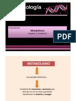 Introducción Al Metabolismo