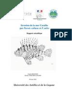 Invasion de la mer Caraïbe par Pterois volitans et P. miles