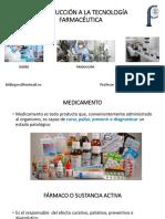 Introducción a La Tecnología Farmacéutica